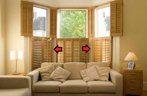 Folding window shutters how many panels for Bifold interior window shutters