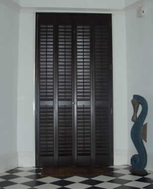 Wooden Door Plantation Shutters by Shutter Design